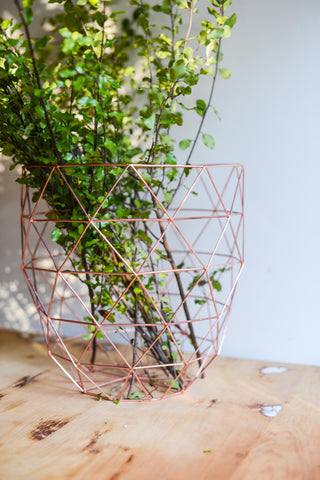 COPPER TALL BASKET