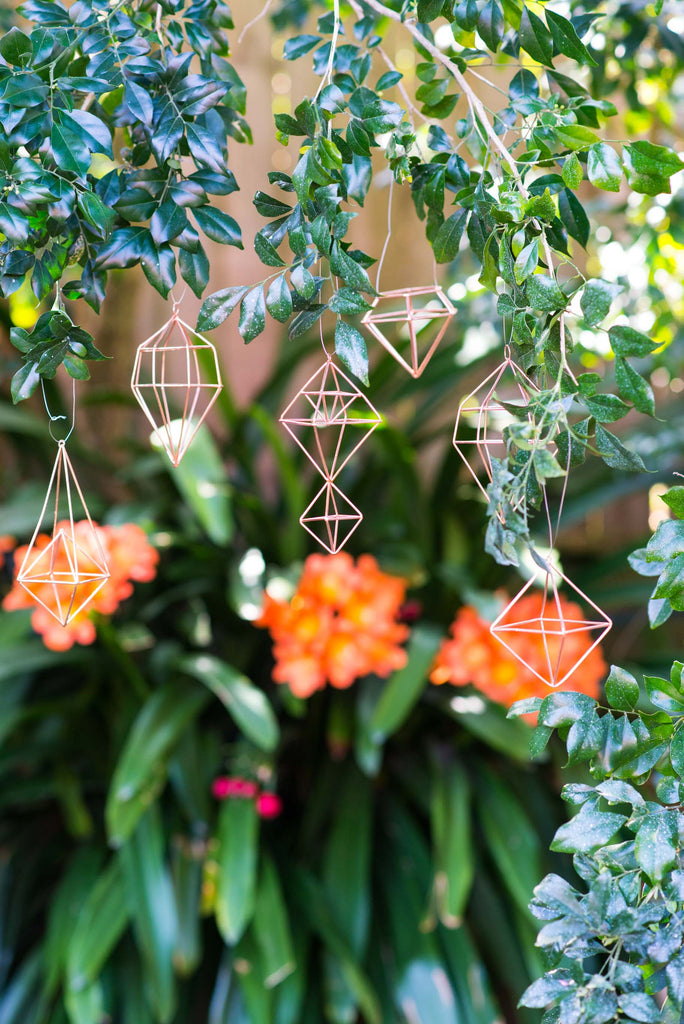 6 PIECE COPPER GEOMETRIC DECORATIONS