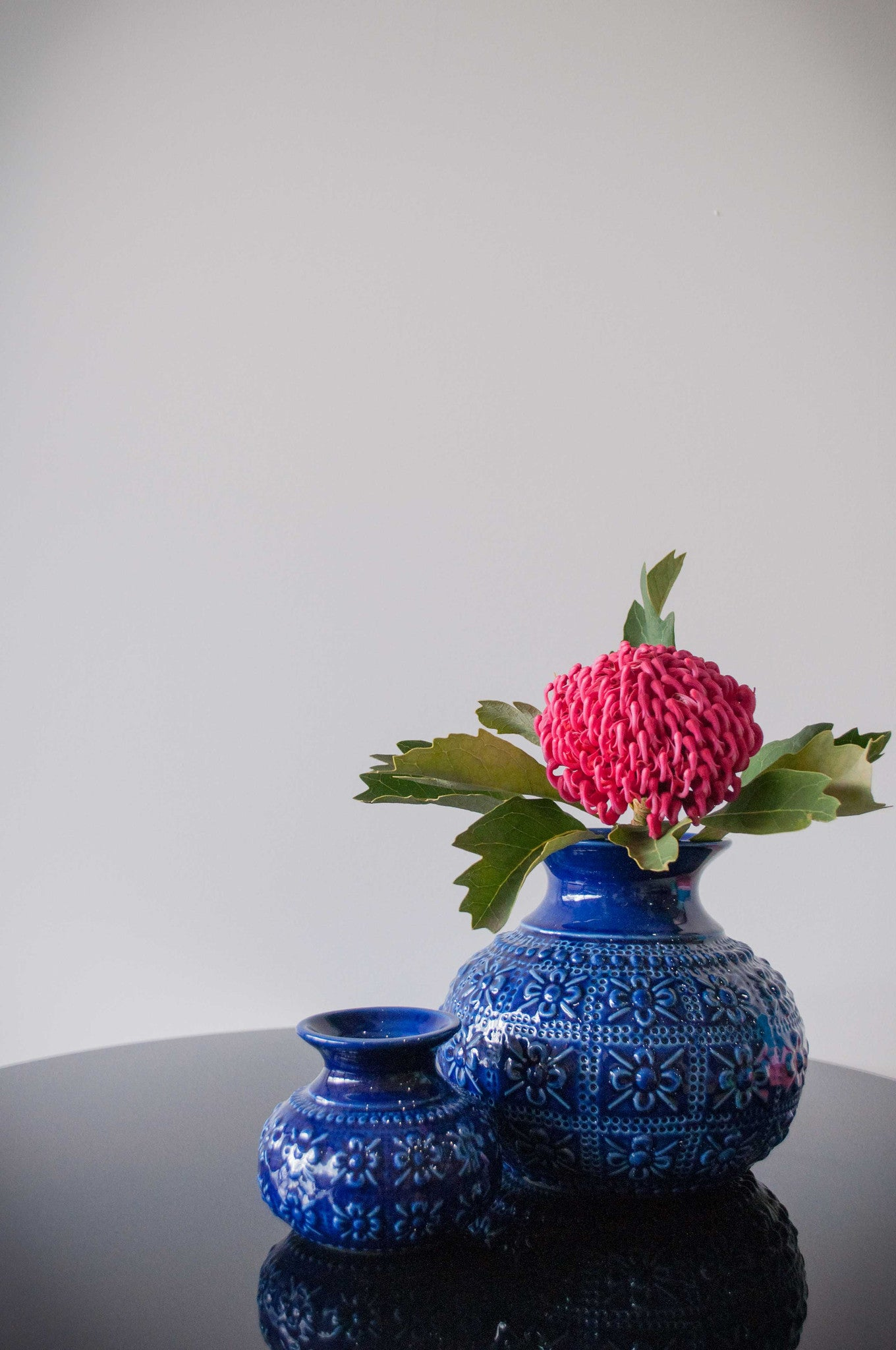 Embossed flower vase royal blue milly and eugene embossed flower vase royal blue reviewsmspy