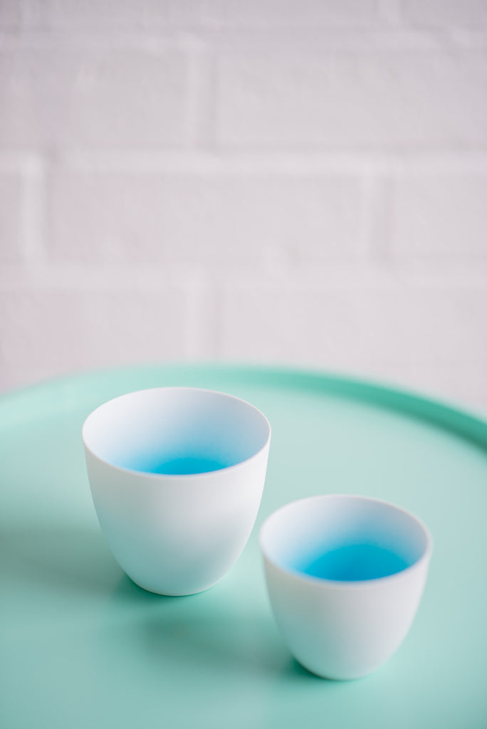 BLUE FADED CUP SET