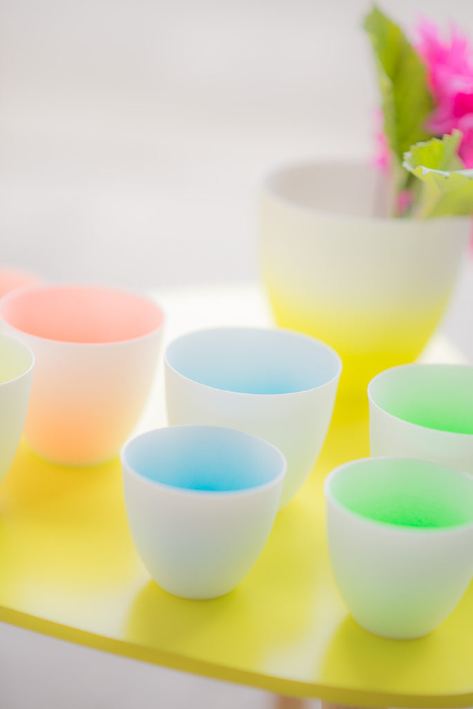 GREEN FADED CUP SET