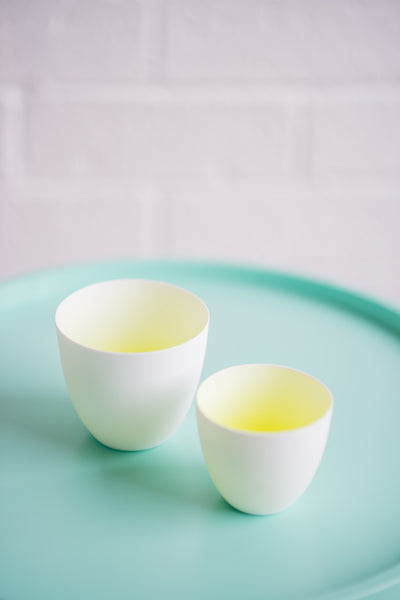 YELLOW FADED CUP SET