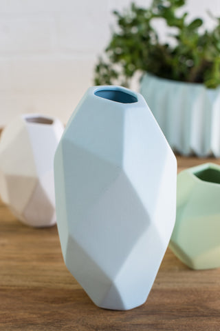 GEOMETRIC ROCK VASE SET
