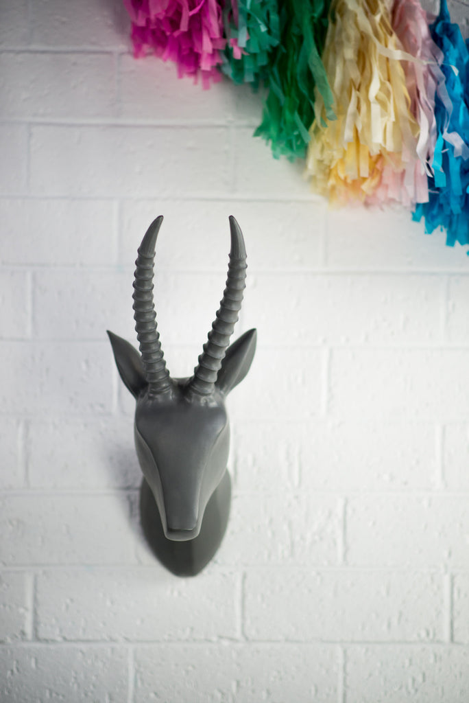GREY DEER HEAD