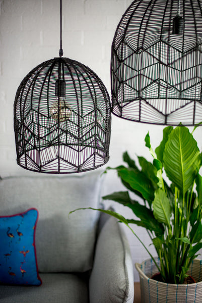 Lace Rattan Light - Black - Pre Order