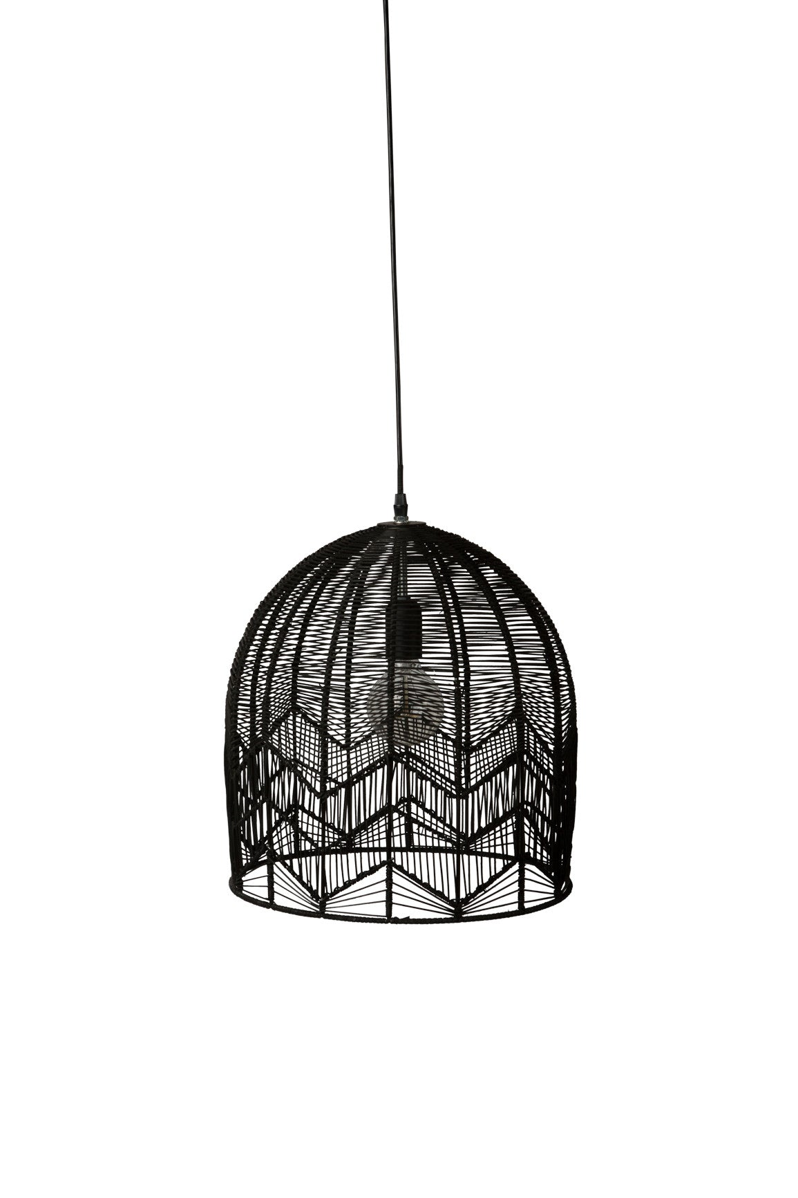 LACE RATTAN PENDANT - BLACK - Milly and Eugene