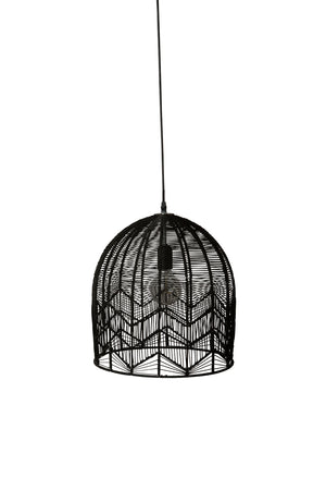 LACE RATTAN PENDANT - BLACK - PREORDER ONLY