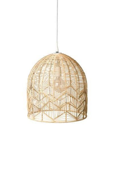 LACE RATTAN PENDANT - NATURAL - Small and Large Size Preorder Only