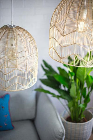 *** PRE-SALE*** LACE RATTAN LIGHT - NATURAL