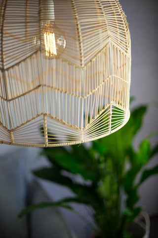 LACE RATTAN LIGHT - NATURAL (PRE ORDER)