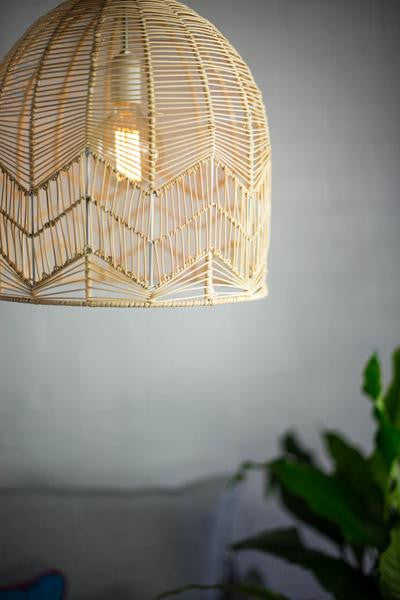 Lace Rattan Pendant Natural Milly And Eugene