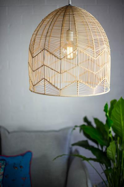 LACE RATTAN LIGHT - NATURAL - PRE ORDER