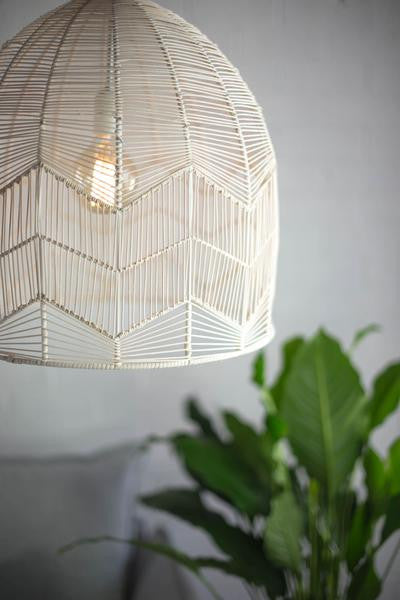 LACE RATTAN LIGHT - WHITE WASH - PRE ORDER
