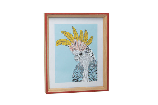 LARGE WASHED EDGED FRAME - CORAL