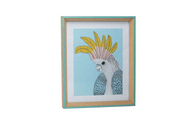 LARGE WASHED EDGED FRAME - SKY BLUE
