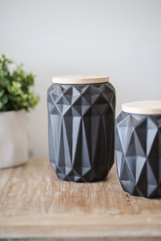 BLACK GEOMETRIC JARS