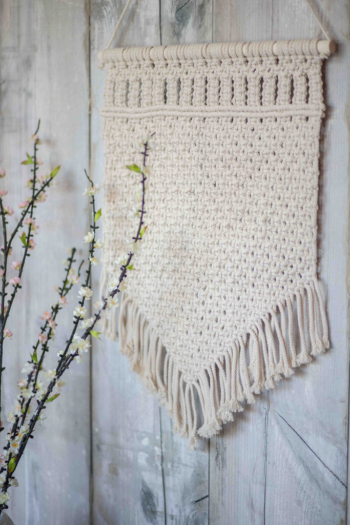 TEXTURED TREASURE WALL HANGING | CREAM(2 PIECE SPECIAL)