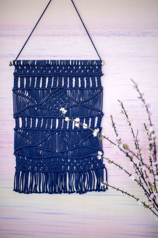 WEAVED WONDERER WALL HANGING | NAVY(2 PIECE SPECIAL)