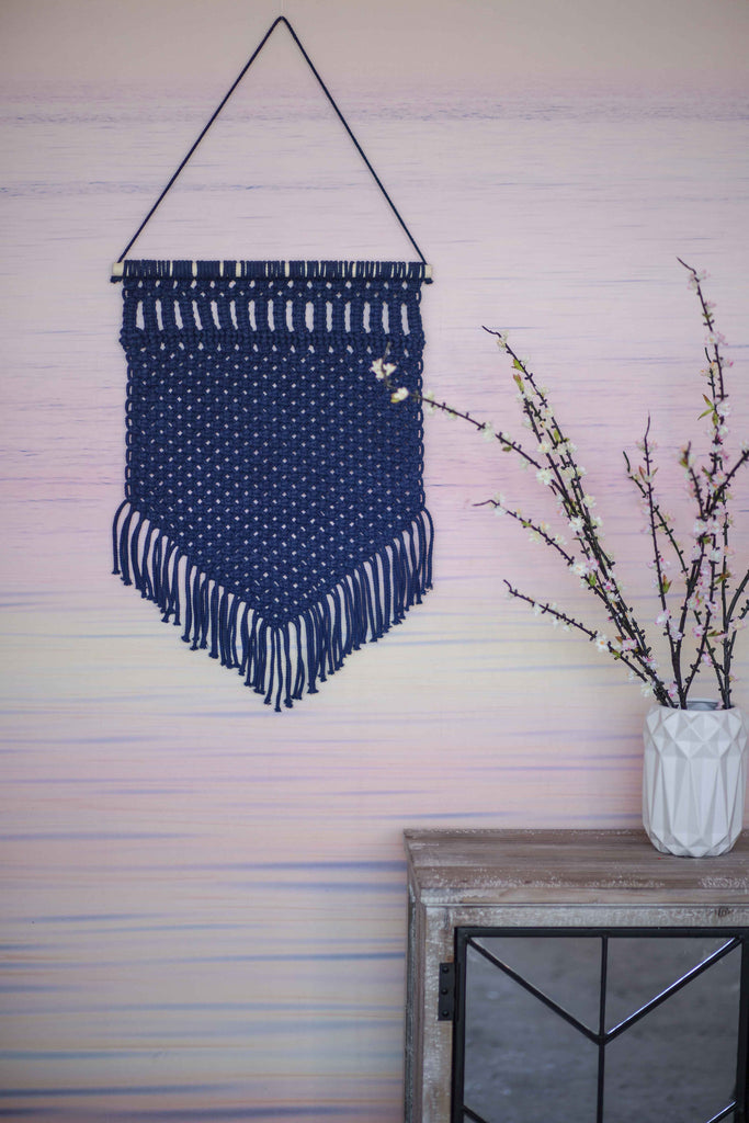 TEXTURED TREASURE WALL HANGING | NAVY(2 PIECE SPECIAL)