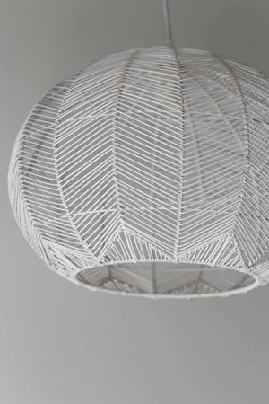 WHITE ROUND RATTAN PENDANT - EXTRA LARGE PREORDER ONLY