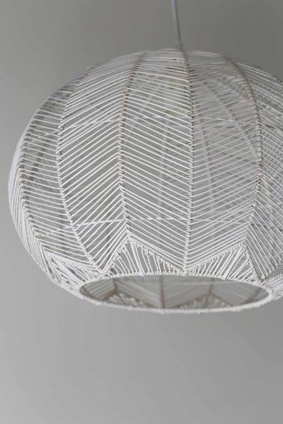 Lighting milly and eugene white round rattan pendant pre order aloadofball Images