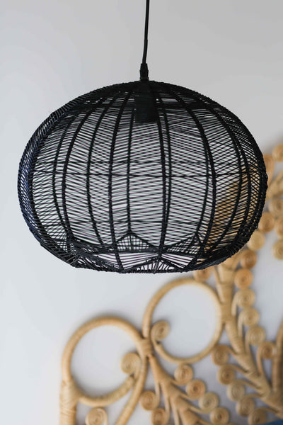 Black Round Rattan Pendant Extra Large Pre Order Milly