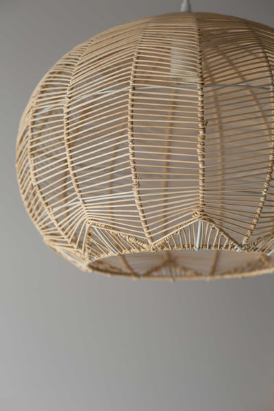Lighting milly and eugene natural round rattan pendant pre order greentooth Images