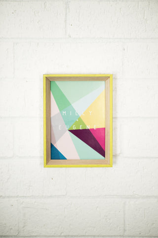 SMALL WASHED EDGED FRAME - YELLOW