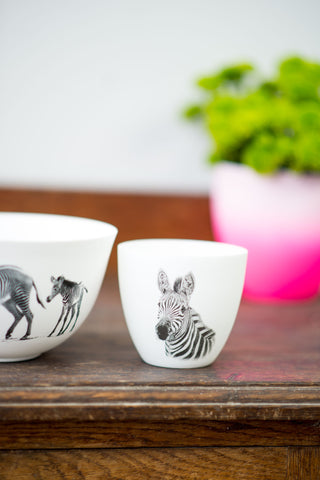 ZEBRA BOWL & TEA-LIGHT SET