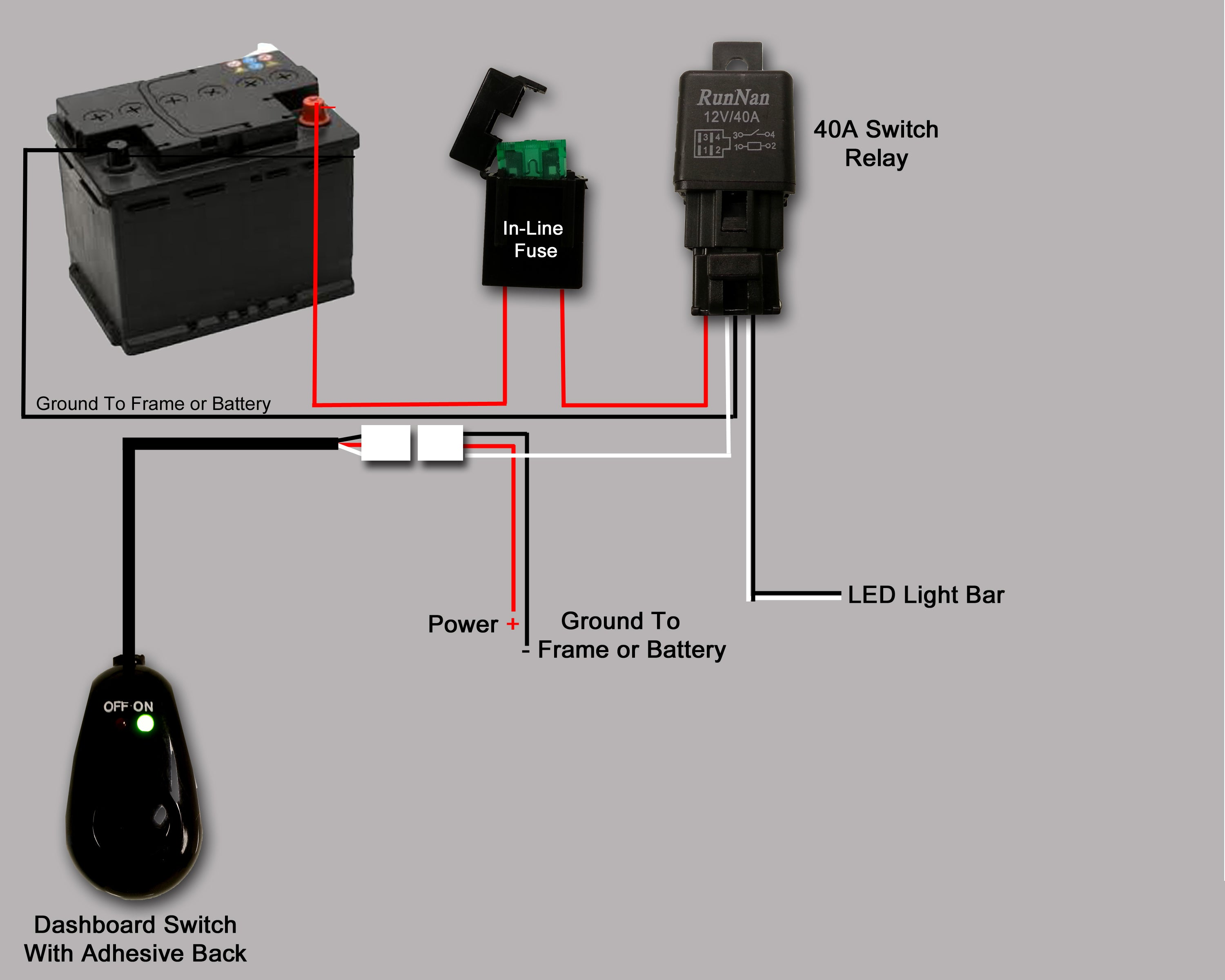 Click here to view a wiring diagram for our simple, single output wiring  kits.