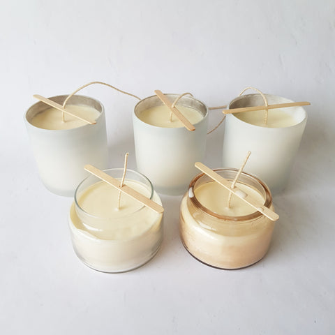 Refilling soy wax candles at home