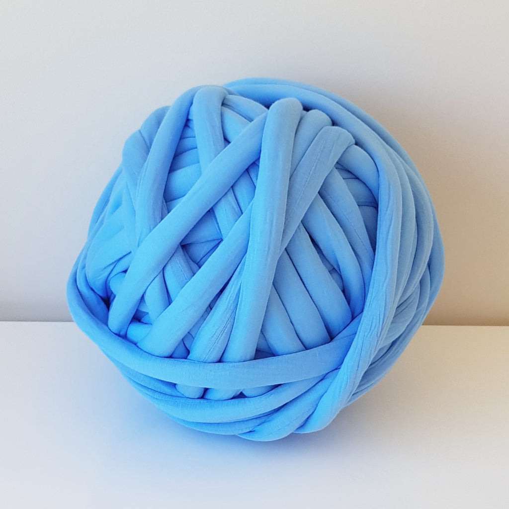 Blue Cotton Tube Yarn | Available online at HEART from HAZEL