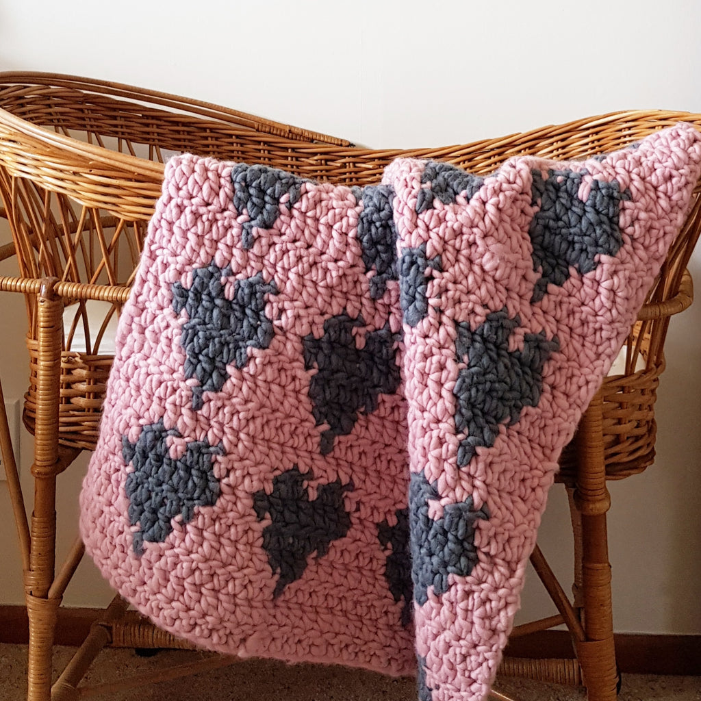 CROCHET PATTERN | Heart Crochet Baby Blanket