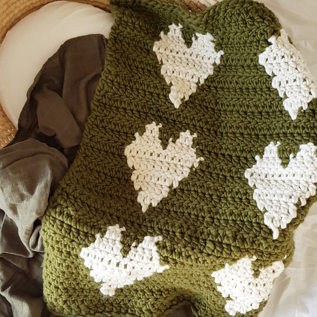 Heart Baby Blanket | Sample