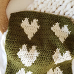 Six Heart Crochet Baby Blanket (Pattern Only)
