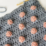 Bobble Baby Blanket Kit | Grey & Pink (Wool, Hook & Pattern)