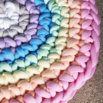Tube Yarn Round Rug | Rainbow Sample