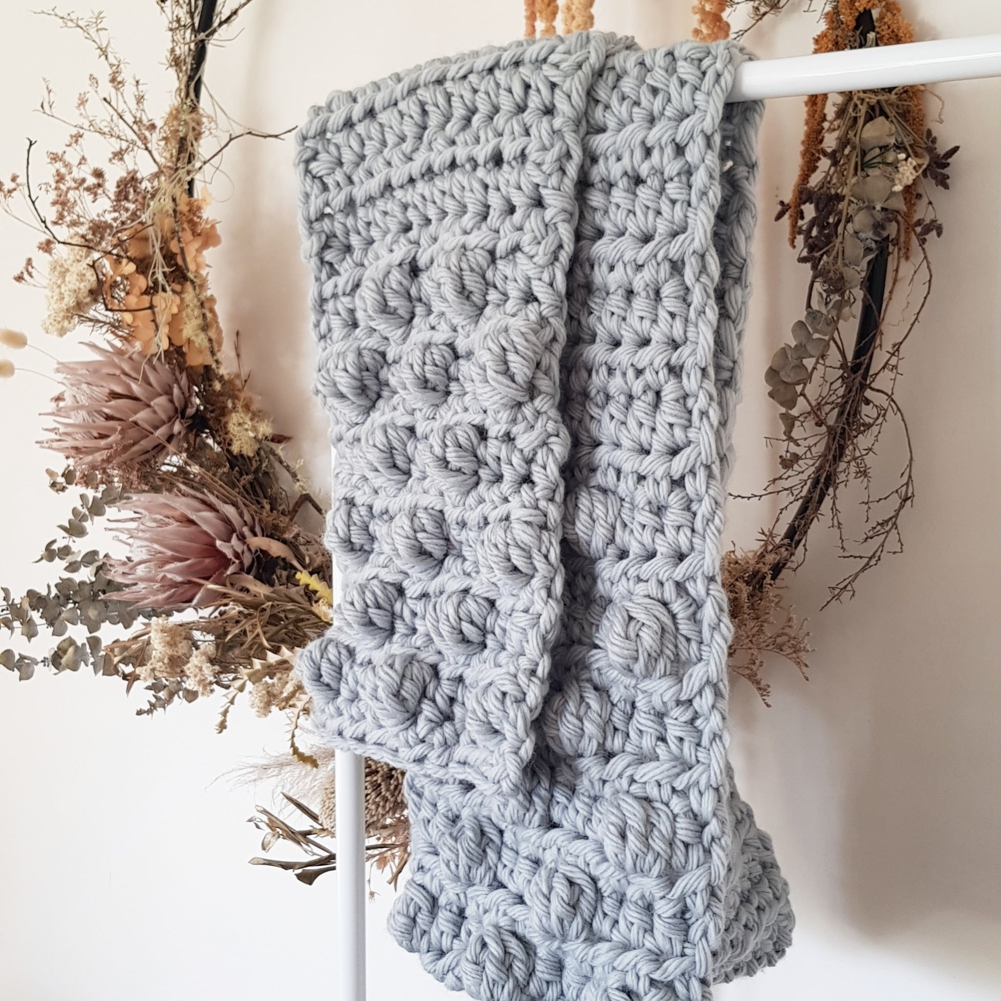 Bobble Scarf | Grey