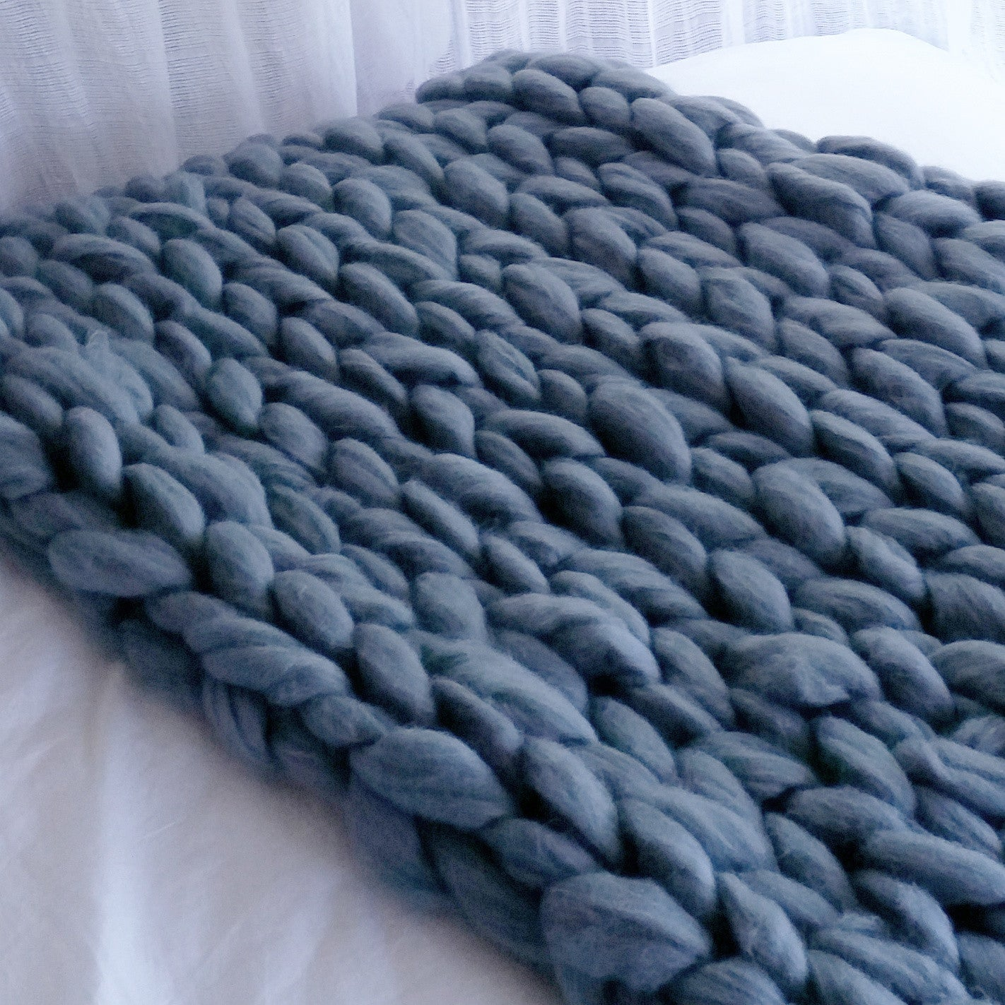 Chunky Wool Throw | heartfromhazel.co.nz