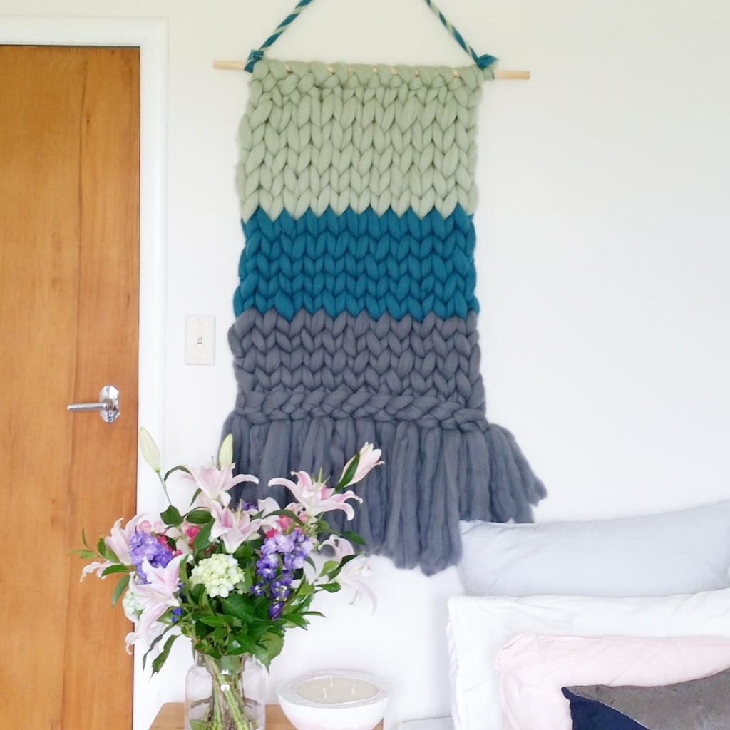 WALL HANGING | Greens & Grey