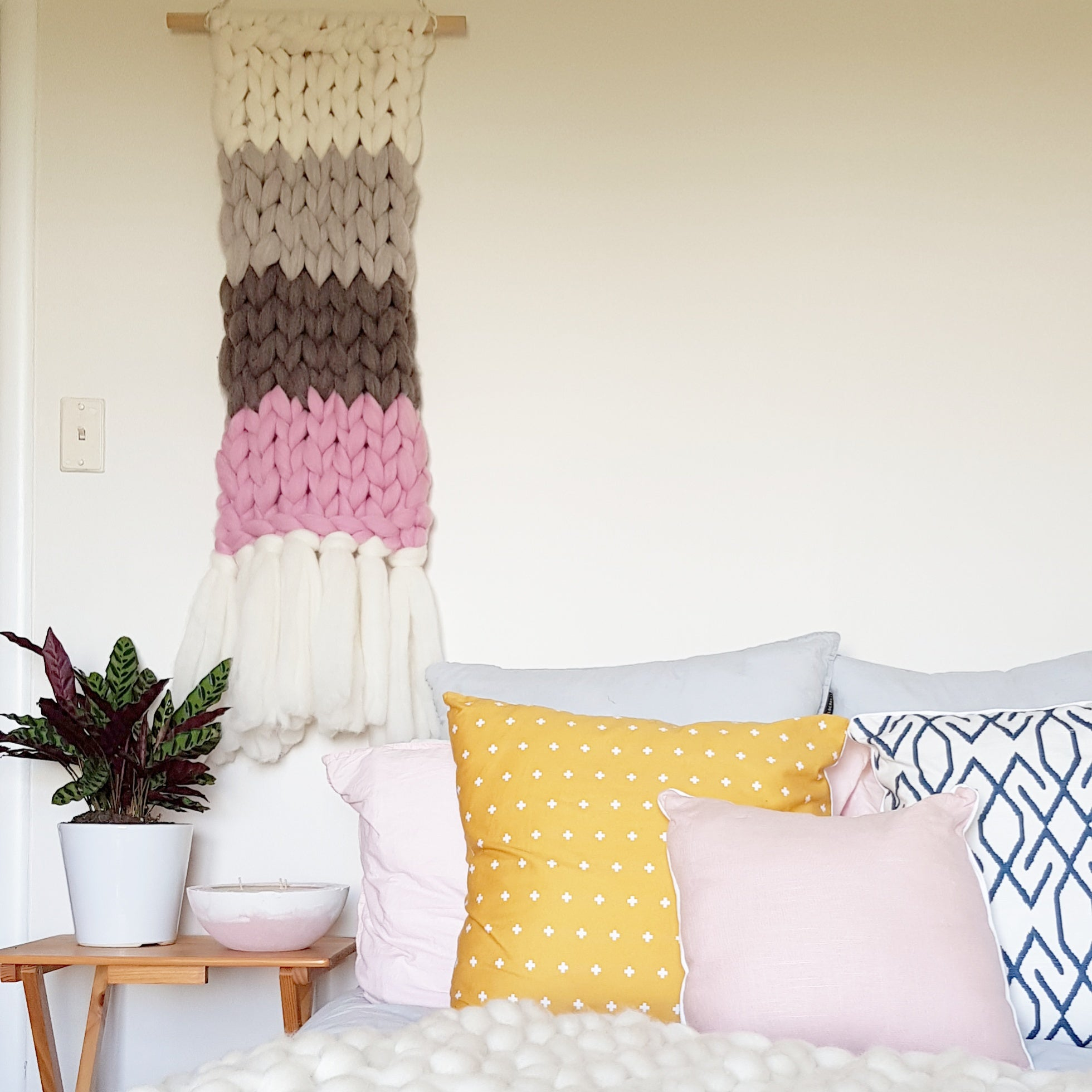 WALL HANGING | Pink & Neutrals