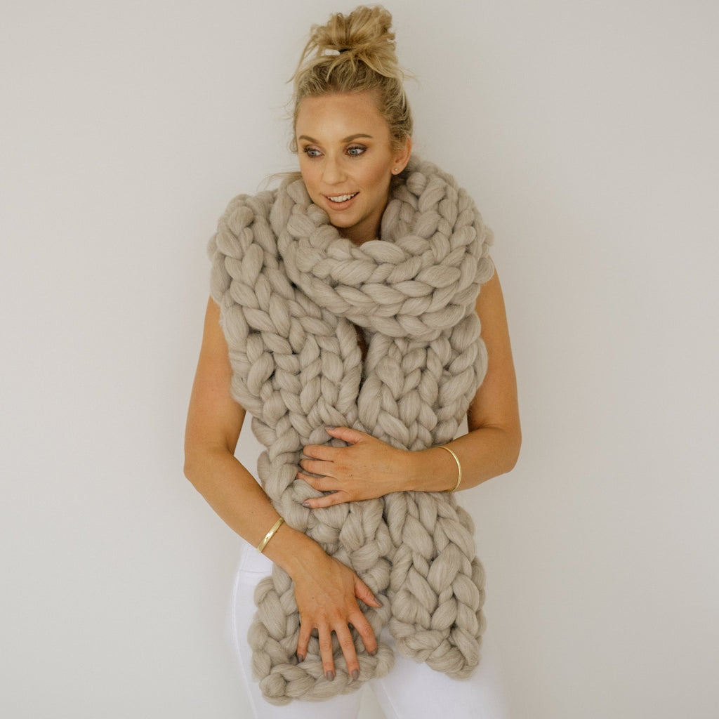 SUPER CHUNKY SCARF | Long Chunky Scarf | heartfromhazel.co.nz