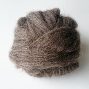 Giant Fat Cocoa Wool Tops and Chunky Cocoa Wool Roving for Wall Hangings and Weaving