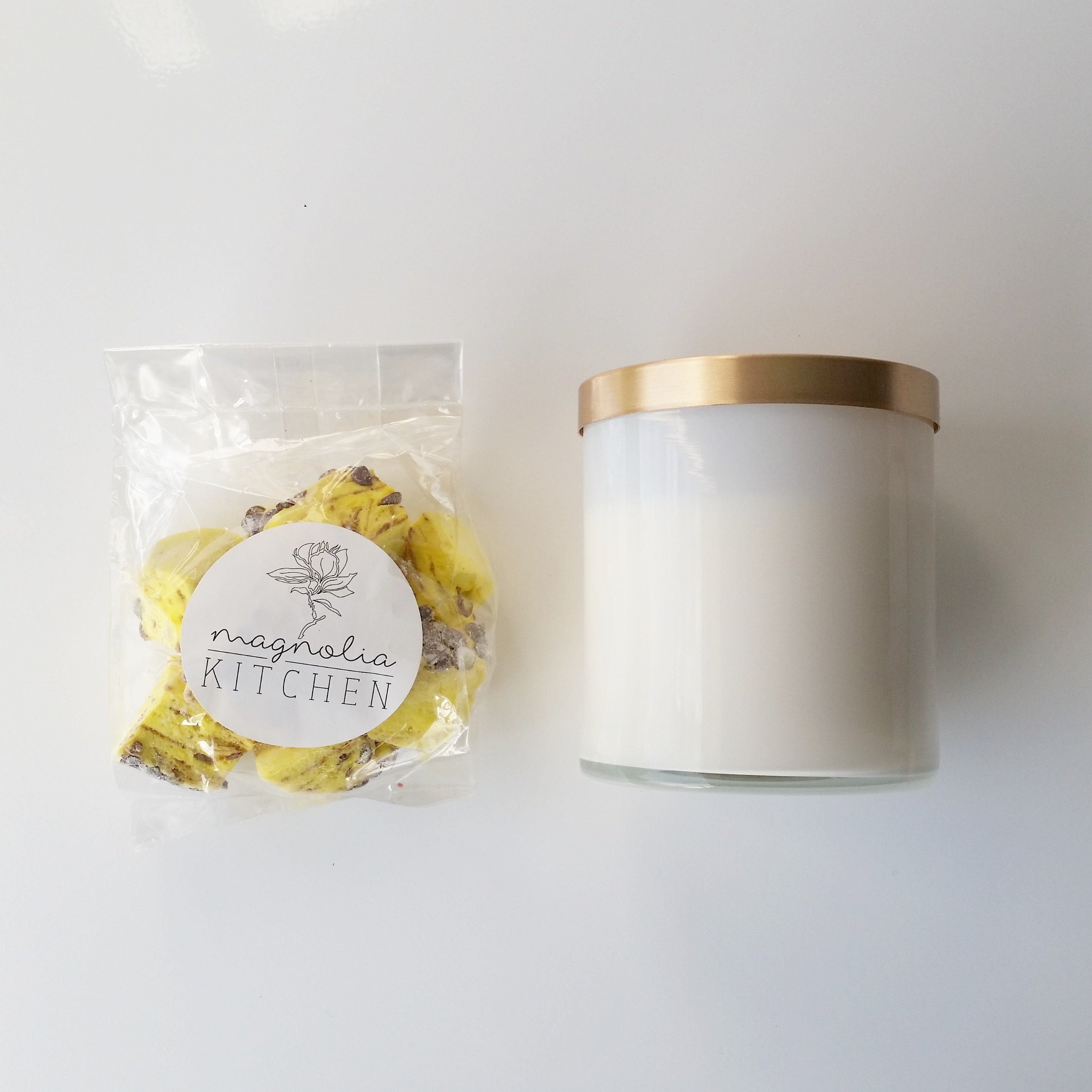 Pineapple Chunk Scented Soy Candle | Heart from Hazel