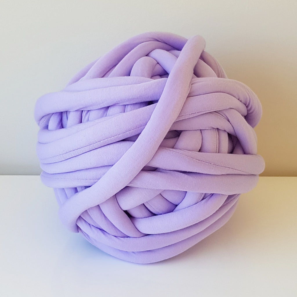 Lavender Purple Cotton Tube Yarn | Available online at HEART from HAZEL