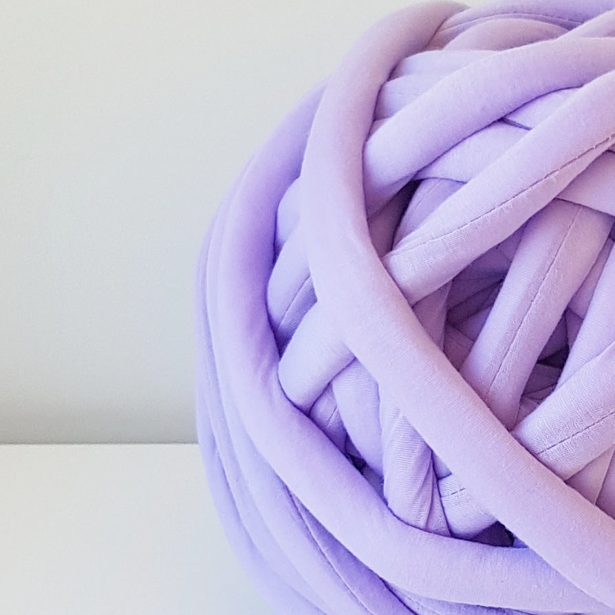 Lavender Purple Tube Yarn Round Rug DIY Kit | Available online at HEART from HAZEL