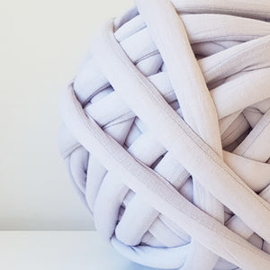 Light Grey Cotton Tube Yarn | Available online at HEART from HAZEL