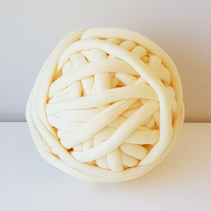 Light Yellow Cotton Tube Yarn | Available online at HEART from HAZEL