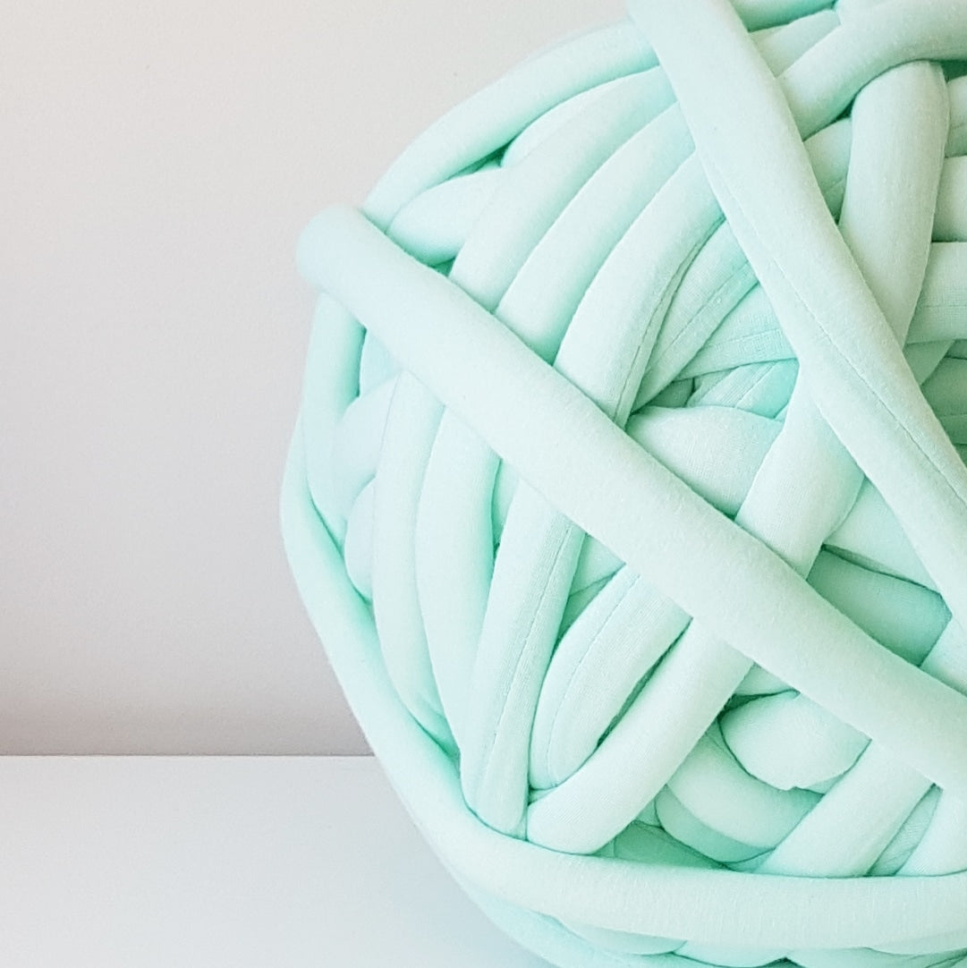 Mint Cotton Tube Yarn | Available online at HEART from HAZEL