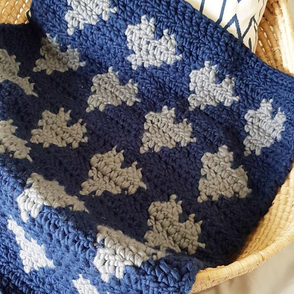 Blue Merino Wool for Baby Blanket, Scarves, Beanies and Throws | HEART from HAZEL